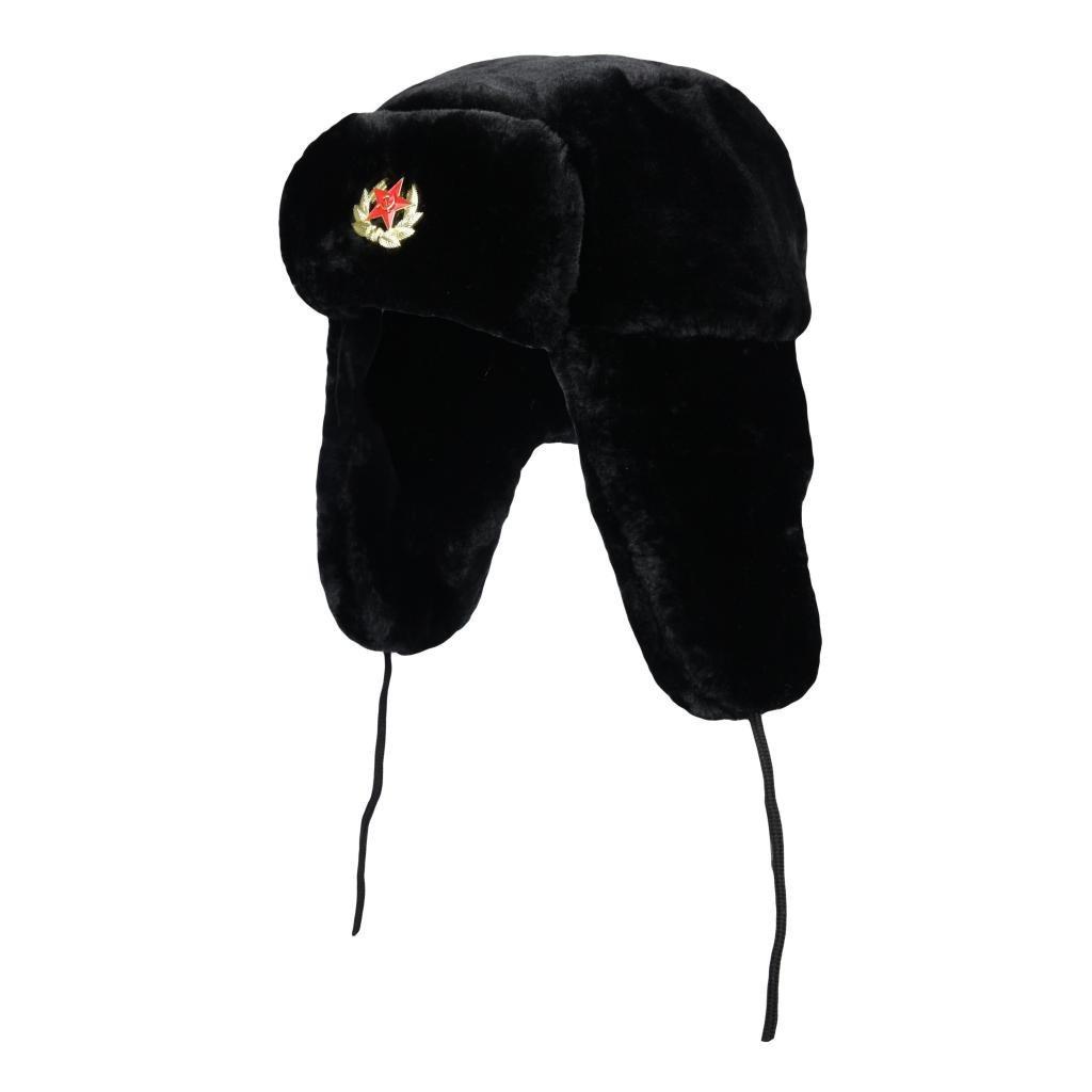 Mens Ushanka Cossack Russian Fake Fur Trapper Ski Hat Winter Warm Trapper Hat