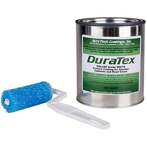 Acry-Tech DuraTex White 1 Quart Roller Grade Cabinet Texture Coating Kit with Textured 3