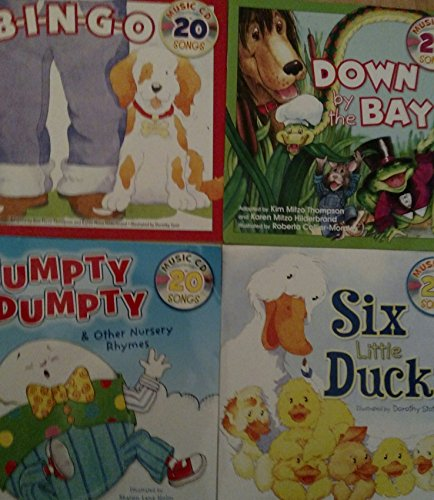 Nursery Rhymes Book and Music CD with 20 Songs (Assorted, Titles and Quantities Vary) Bingo. Down by the Bay, Humpty Dumpty, and / or 6 Little Ducks
