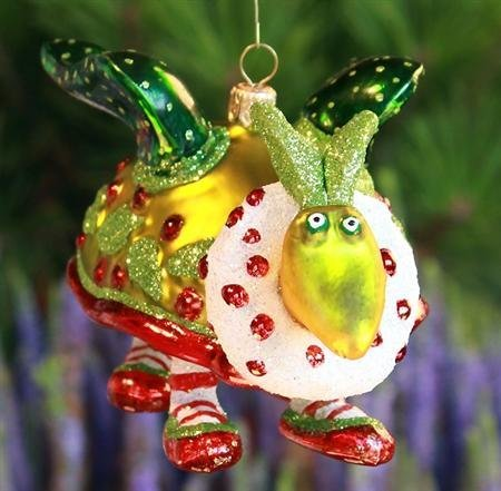 Patience Brewster Turtle Dove Glass Ornament - Krinkles Christmas Décor New 08-30713