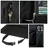 Car Backseat Organizer with Tablet Holder for Kids and Toddlers by DMoose 24-Inch-by-19-Inch (Large) – Insulated Thermal Pockets, Strong Buckles - Use as Seat Back Protector, Kick Mat, Car Organizer