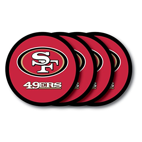 Nfl Sf 49ers - NFL San Francisco 49Ers Vinyl Coaster Set (Pack of 4)