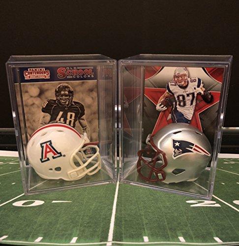 Rob Gronkowski College and Pro Helmet Shadowbox w/card Set of 2