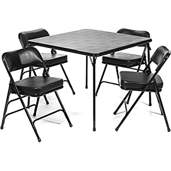 Amazon Com Cosco Products 5 Piece Folding Table And Chair