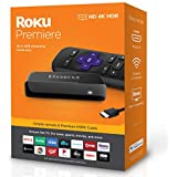 Roku Streaming Media Player Simple Remote and Premium HDMI Cable, Black (Roku Premiere)