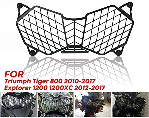 Binchil Motorcycle Headlight Grille Light Cover Protective Guard For Triumph Tiger 800 2010-2017 And Explorer 1200 12-17 Protector