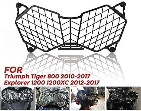 Fltaheroo Protezione Protettiva per Griglia Faro Faro Moto per Triumph Tiger 800 2010-2017 Ed Explorer 1200 12-17 Protector
