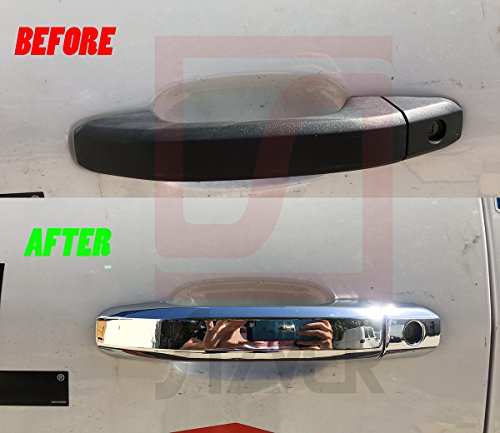 AAL FOR CHEVY SILVERADO 2014-2018 CHROME MIRROR DOOR HANDLE TAILGATE COVER w//cam