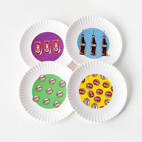 Outdoor Plate - BBQ Picnic 9\u0026quot; Melamine Plates - Pop Art Coke ...  sc 1 st  Amazon.com & Amazon.com | Outdoor Plate - BBQ Picnic 9\