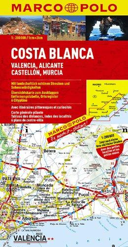 Costa Blanca Valencia Granada (1:200.000) Marco Polo: Amazon.es ...