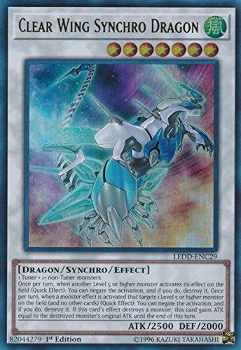 Amazon.com: YuGiOh 1er Dragón de Ed transparente Wing ...