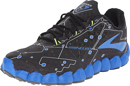 Brooks Men's Neuro Metallic Charcoal/Electric Blue Lemonade/Nightlife Sneaker 11.5 D (M)