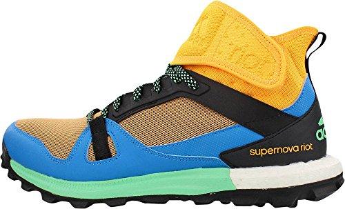 Adidas Performance Supernova Riot M Trail Runner Solar Gold/Solar Blue/Green Glow