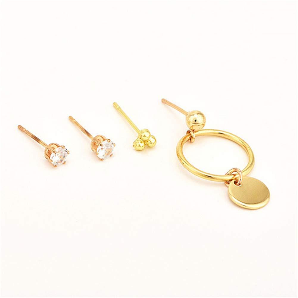 Ellepigy Frauen Gold Circle Ohrstecker Gl/änzende Pailletten Ohrringe Ohrschmuck Geschenke F/ür Lady Girls