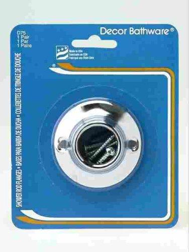 Amazon.com: Bath Unlimited D-75 Shower Rod Holder, Chrome: Home ...