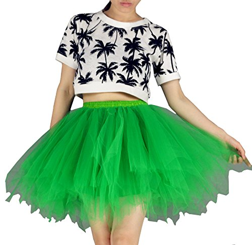 YSJERA Women's Tutu Tulle Mini A-Line Petticoat