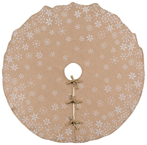 Now Designs Burlap Snowflake Diameter