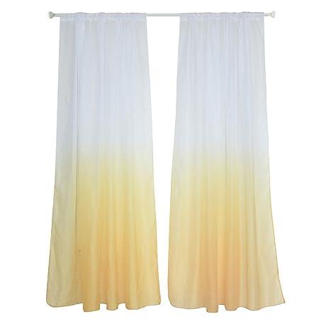 Alexsix Modern Colour Gradient Window Tulle Curtain Sheer Drape