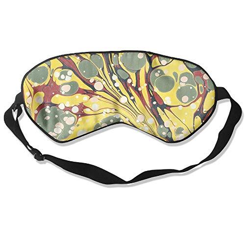100% Silk Sleep Mask Eye Mask Abstract Painting Soft Eyeshade Blindfold with Adjustable Strap for Sleeping Travel Work Naps Blocks Light