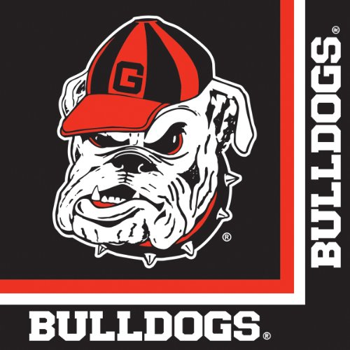 Georgia Bulldogs Lunch Napkins 20 Count