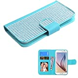 MyBat Wallet Case for Apple iPhone 6, ASUS PadFone X & Other Smartphones - Retail Packaging - Blue