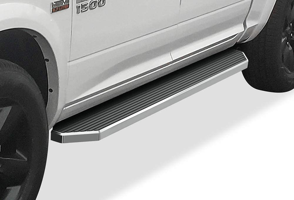 Black Flat Style Exclude 19-21 Ram 1500 Classic Running Boards Nerf Bars Side Steps Step Rails Compatible with Dodge Ram 1500 2019-2021 Quad Cab for New Body Style Only APS iBoard 6-inch Aluminum