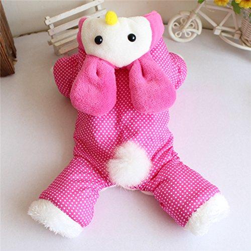 LanTa PetSuppliesMisc Vestiti dell'animale Domestico di Autunno e Inverno Vestiti per Cani di Orso Teddy Cappotto di Cotone a Quattro Zampe (Colore   rosa, Dimensione   XS)