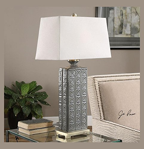Aged Ceramic Table Lamp - 8