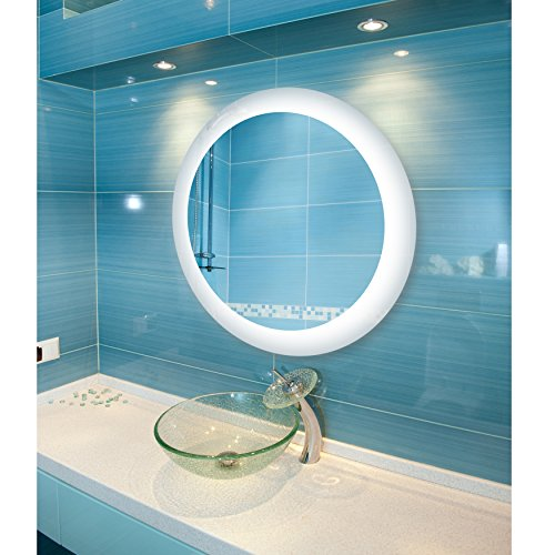 Dyconn Faucet Circle Round LED Wall Mounted Backlit Vanity Bathroom LED Mirror - Dyconn Bathroom Led Mirrors Royal