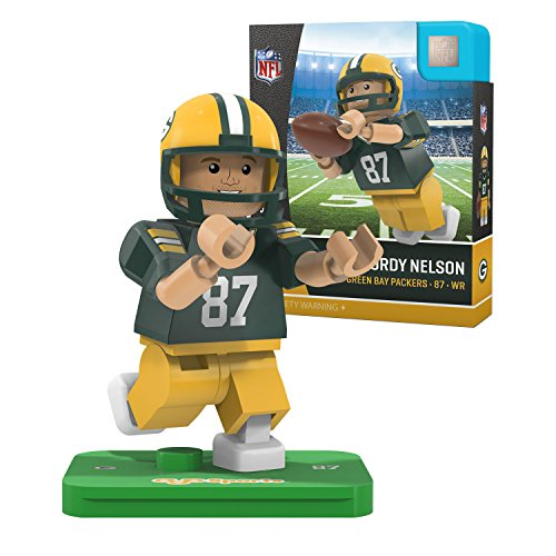 NFL Green Bay Packers Gen4 Limited Edition Jordie Nelson Mini Figure, Small, White