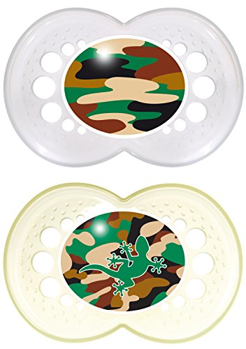 MAM Camo Orthodontic Pacifier, Unisex, 16+ Months, 2-Count