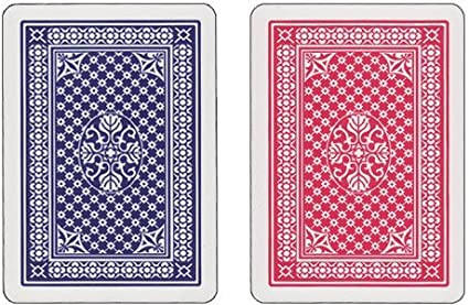Copag Pinochle Cards Red//Blue Poker Size Standard Index 100/% Plastic Cards with Protective Plastic Case