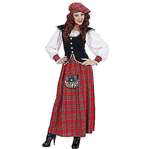 Costumes Scotland (Ladies Scottish Lass Heavy Fab Costume Small Uk 8-10 For Scotland Fancy Dress)