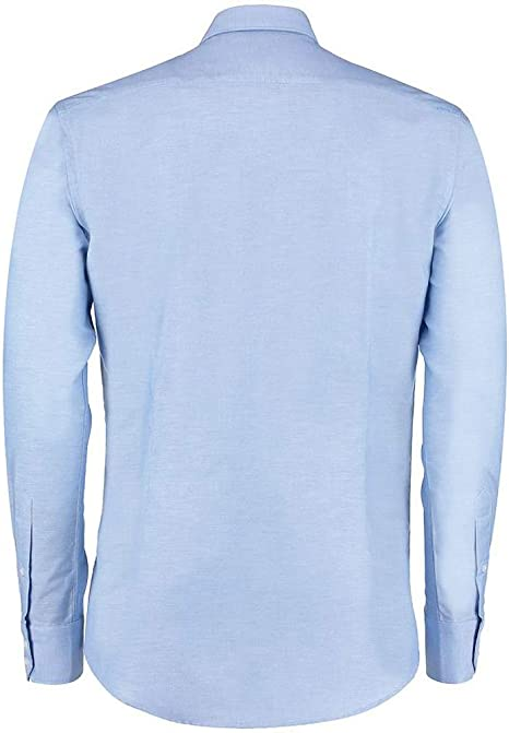 Kustom Kit - Camisa de trabajo Oxford manga larga ajuste ...