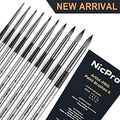 Nicpro Watercolor Paint Brush Set
