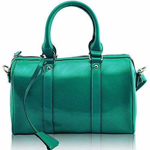 Asa De hombro Trendstar En La parte superior De La moda De las mujeres bolsos De mano, piel sintética, ORT.K7051-Petate Célébrité Style A G - Emerald