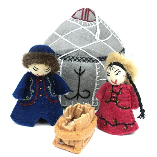 - Silk Road Bazaar Felt Yurt Nativity