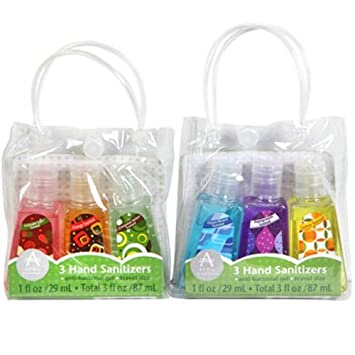 April Bath Shower Travel Size Scented Hand Sanitizers 3 Ct Packs