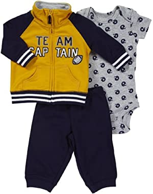 Carter's Baby-boys Captain Onesie Set (3 Piece)