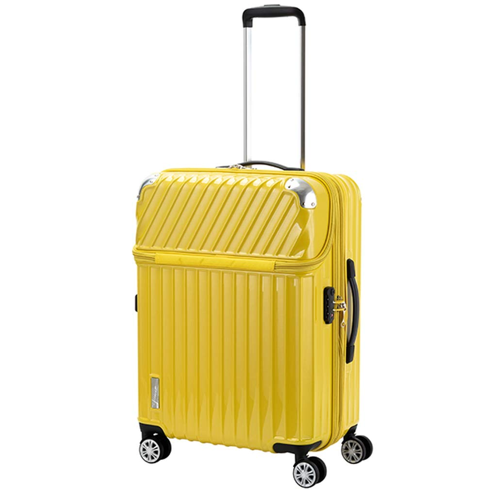 トラベリスト TRAVELIST トップオープン スーツケース 76-20307 モーメント 61L イエローカーボン 代引き不可[bg]   B07KHV5HH8