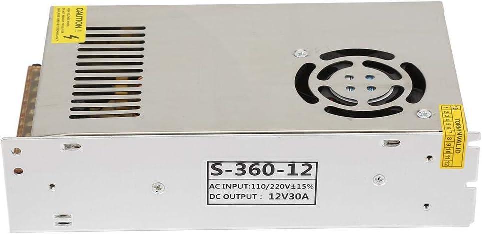 Cosiki Switching Power Supply Driver Industrial Equipment DC 12V 30A LED Switching Power Supply Driver Adapter Power Supply Switching for S-360W-12 LED