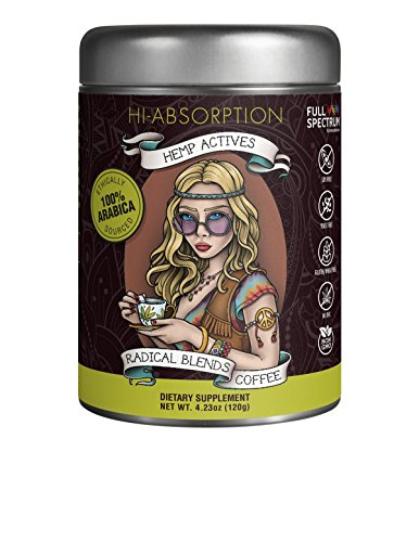 Hemp Oil Supplement with 100% Arabica Microground Coffee for Anxiety and Pain Relief - PCR Full Spectrum, Non-GMO, No THC, GMP C