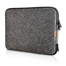 ProCase 13 - 13.5 Inch Felt Laptop Sleeve Case Bag for Macbook Pro Retina / MacBook Air, Surface Book 2 and Most 12-13 Inch Chromebook Ultrabook Notebook -Black