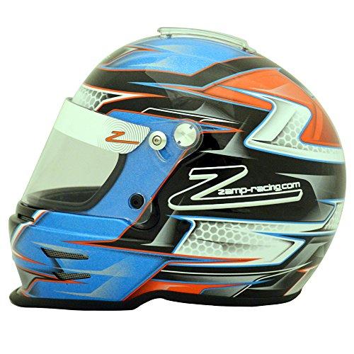 - Zamp RZ-42Y Youth Orange/Blue Graphic Helmet - 54cm