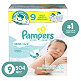 Pampers Sensitive Water-Based Baby Diaper Wipes, 9X Pop-Top -...
