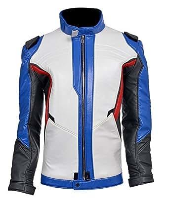 Adult Men Halloween Soldier Cosplay Hoodie Sweatshirt 76 Costume Leather Jacket Coat (L)