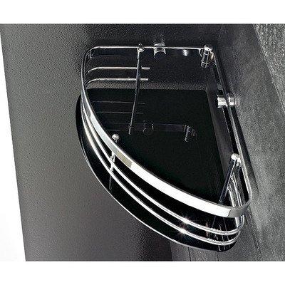Toscanaluce 1301-NR-637509837198 Corner Collection Brass and Plexiglass Corner Shower Caddy, Black