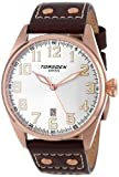 Torgoen Swiss Men's T28104 T28 3-Hand Rose Aviation Watch, Watch Central