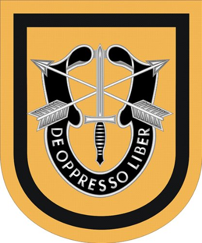 US Army 1st Special Forces Group Flash Vinyl Decal Sticker 3.8