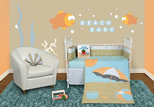 Snuggleberry Baby Sun Sand Crib Bedding Set